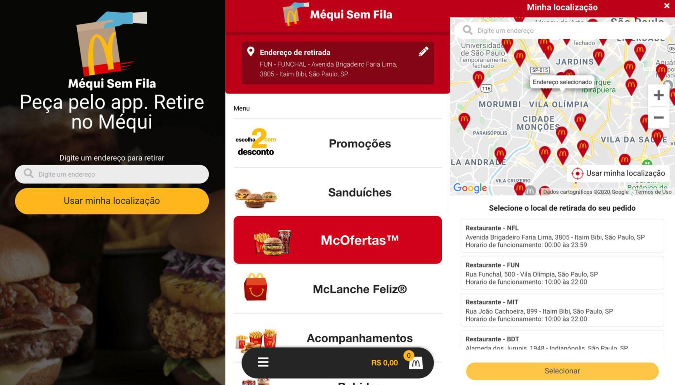 """[Brasil] McDonald's lança novo recurso """"Méqui Sem Fila"""" em seu aplicativo no Brasil"""