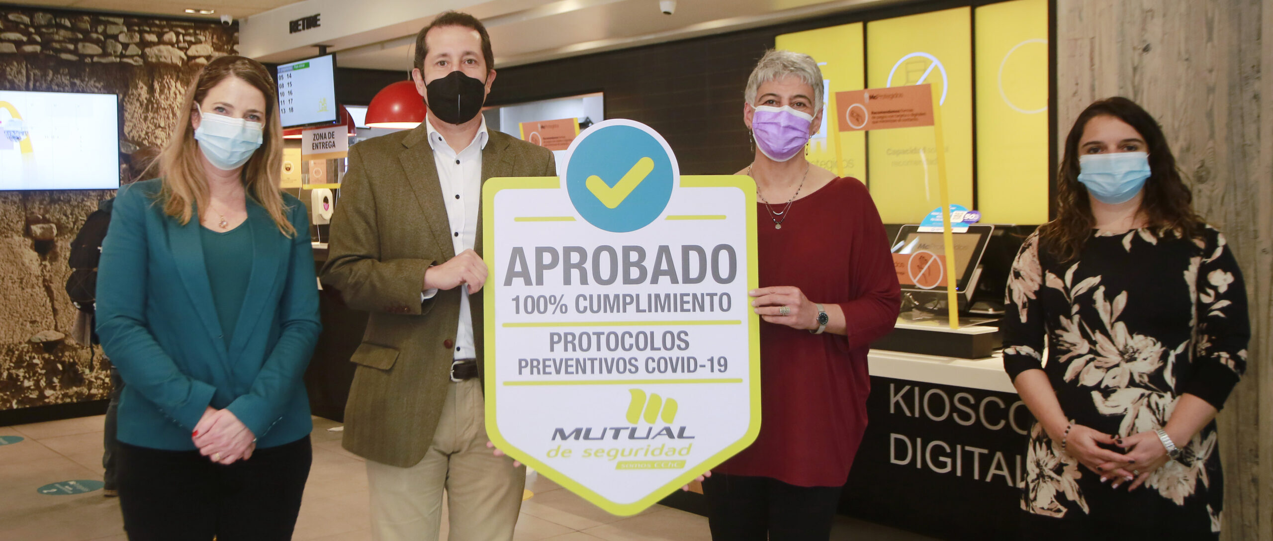 [Chile] Mutual de Seguridad reconoció a Arcos Dorados Chile con su Sello Prevención COVID-19