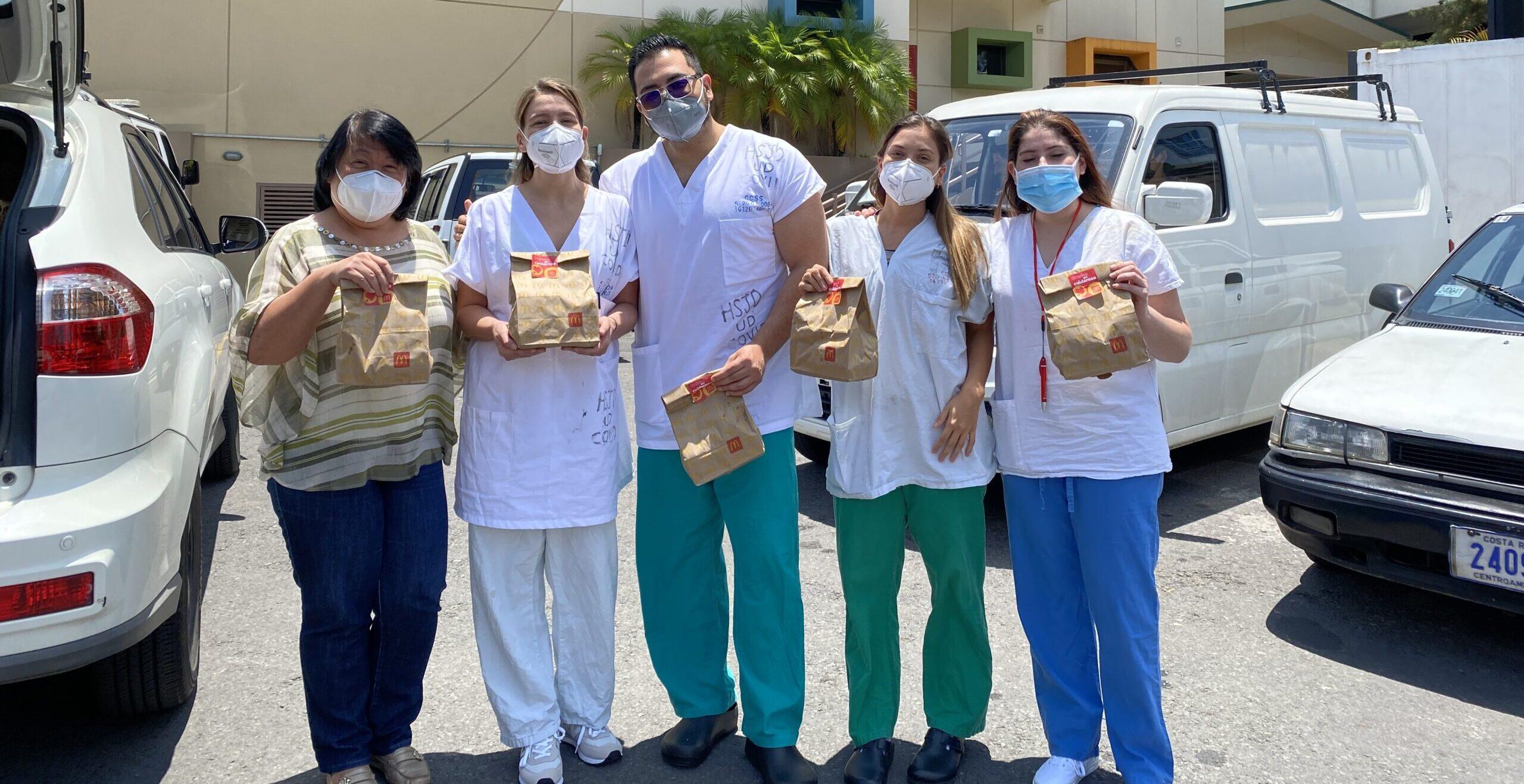 [Costa Rica] Arcos Dorados entregará 600 almuerzos de McDonald's a personal de salud