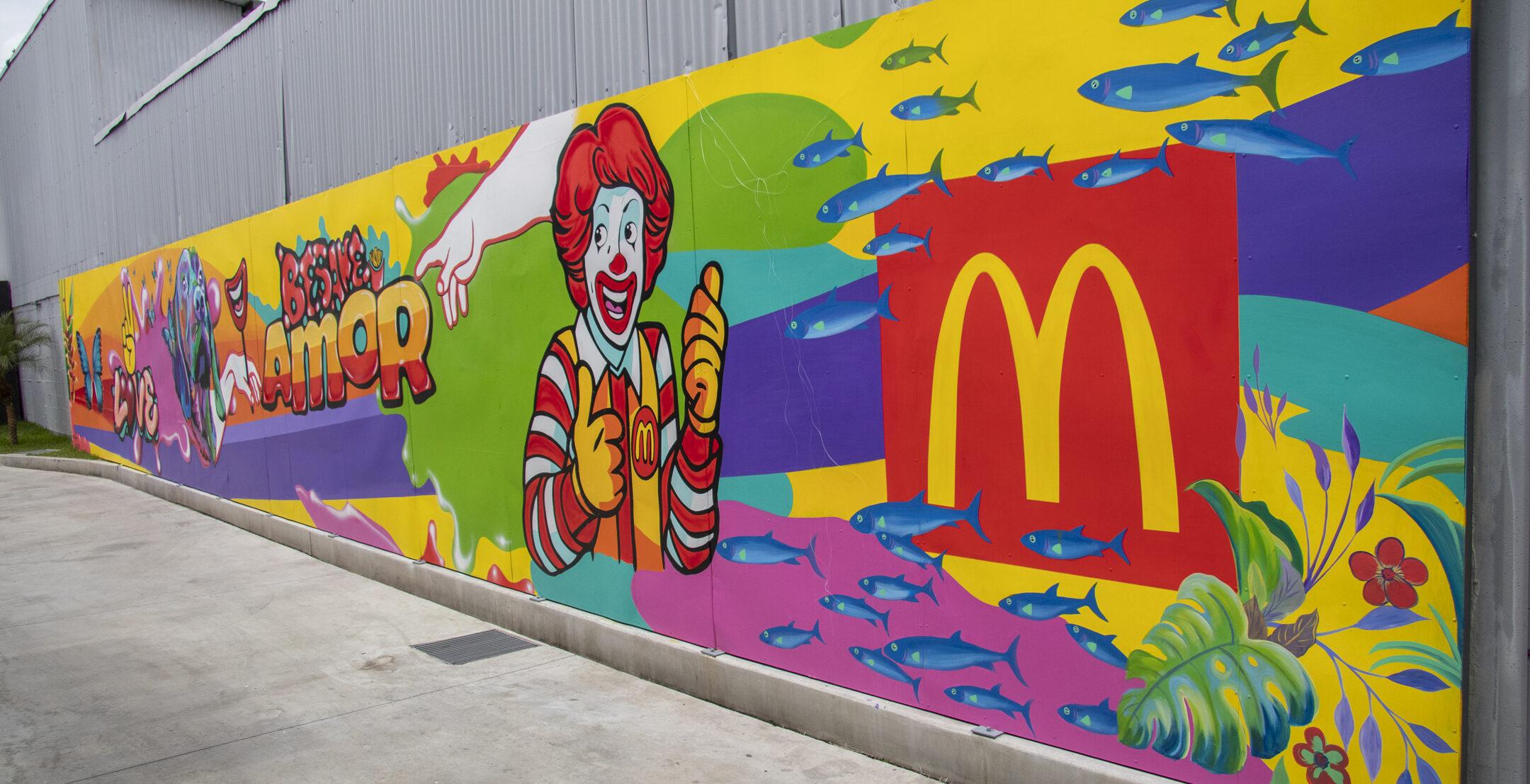 [Costa Rica] Arte nacional llega al nuevo McDonald's San Sebastián