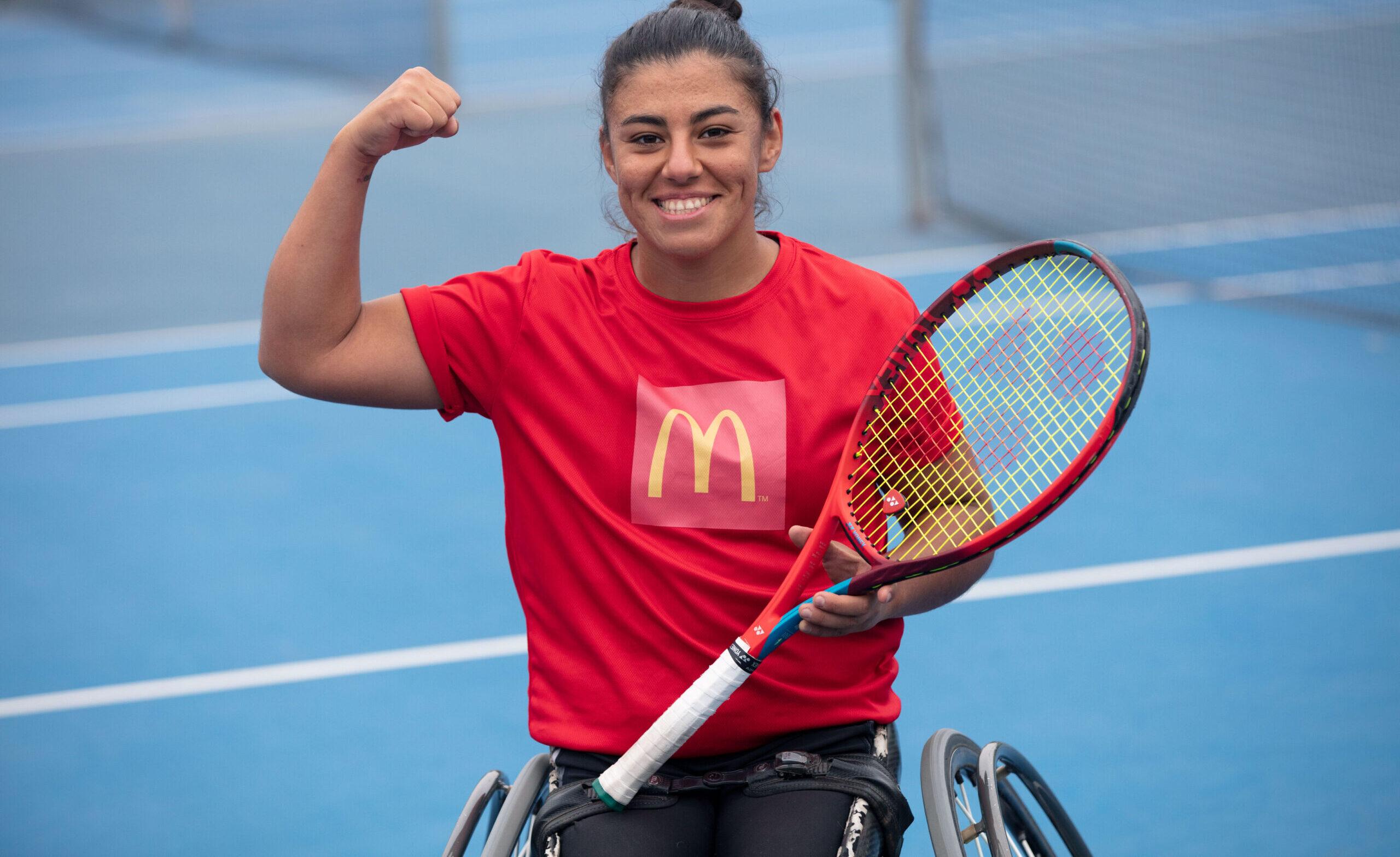 [Chile] Programa Embajadores Deportivos McDonald's suma a la destacada tenista paralímpica Macarena Cabrillana