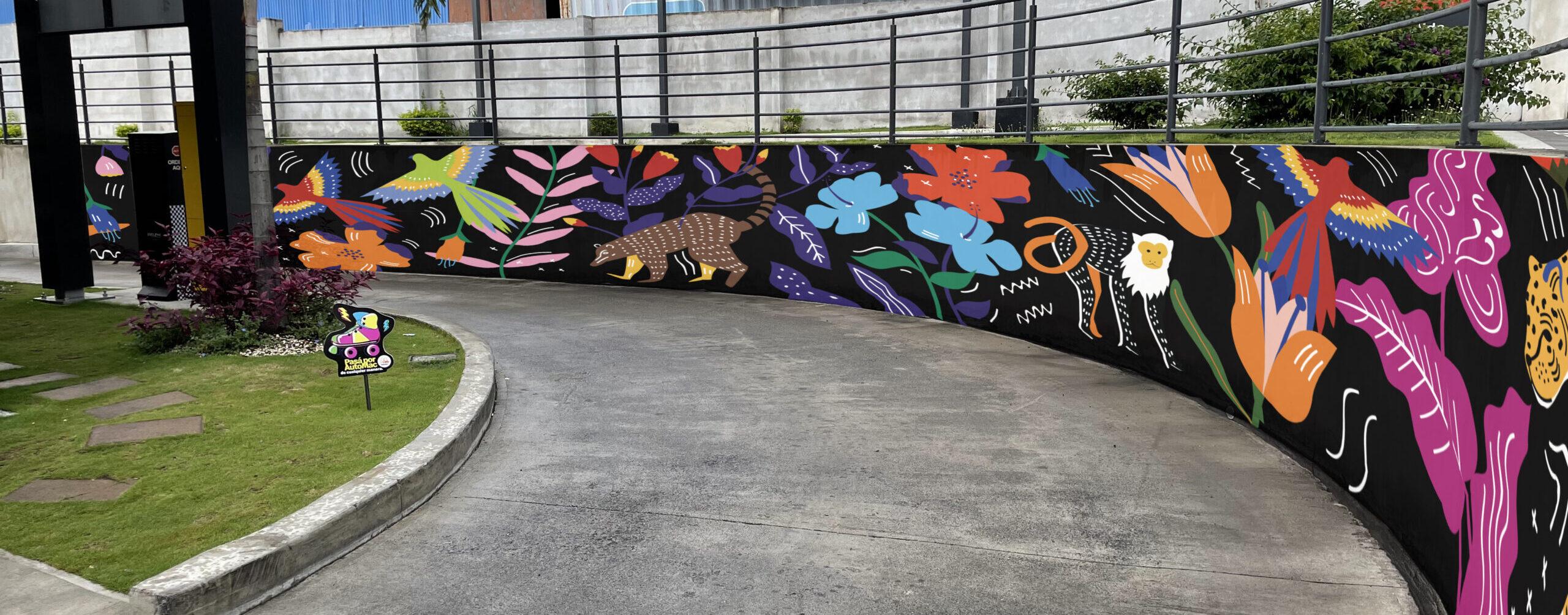 [Costa Rica] Flora y fauna costarricense embellecen segundo mural del proyecto PaseArte por Mc