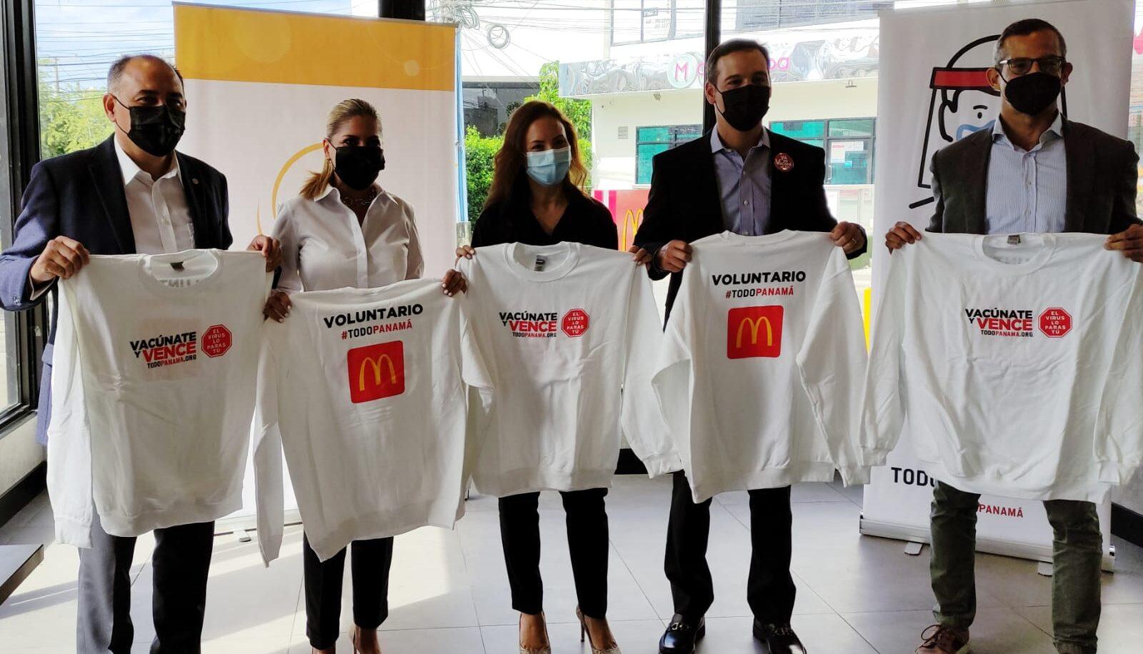 [Panamá] Apoyamos a los voluntarios de las jornadas de vacunación, Arcos Dorados realiza una significativa contribución al movimiento #TodoPanamá